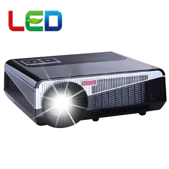 Best sale 2016 5500Lumens 1280*800 Multimedia Projector HD Video LED 3D LCD home theater Proyector Beamer with USB HDMI TV Tuner