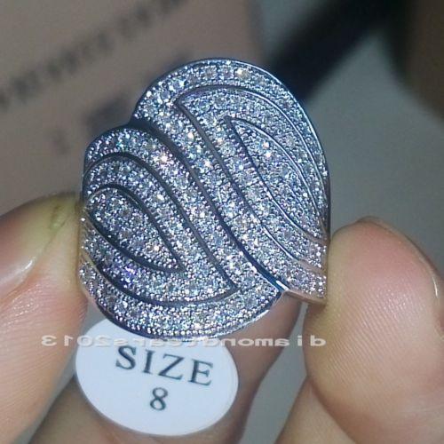 wholesale Freeshipping Big promotion 140pcs CZ Sz6/7/8/9 Luxury Jewelry 10kt white gold filled Wedding Ring gift choucong(China (Mainland))
