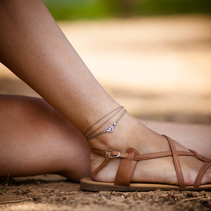 2016 Hot Sale New Om Charm Women Summer Sandal Beach Wrapped Anklet Ankle Bracelet Foot Chain Fashion Jewelry for Girls Gifts(China (Mainland))