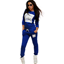 6 Colors Women Letter Printed Sportswear Suit Fall Winter Tracksuits Casual Sport Costumes 2 Piece Set Jogging Sweatshirt Set 41(China (Mainland))