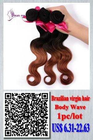 2016 New Arrival Ombre hair Bundles 1b/Blue cheap Brazilian hair Weave Bundles virgin human hair Body Wave 1pc/lot  50g Instock
