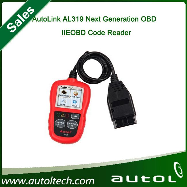 2015 Hot selling Original Superior Quality Multi-Language AutoLink OBDII & CAN Code Reader AL319(China (Mainland))