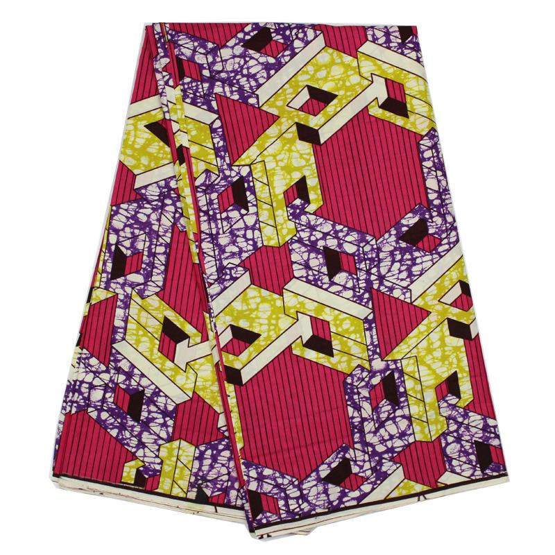 Wholesale and retail Fushia Pink Color! Latest Fabric Guaranteed Quality real dutch wax african super wax hollandais B10-62507(China (Mainland))