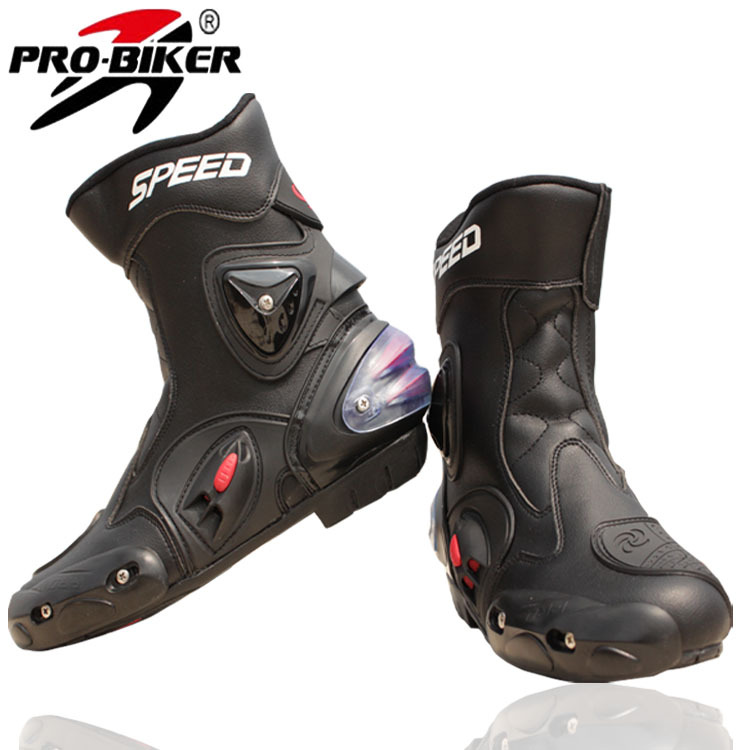 Pro-biker Brand Breathable Outdoor Sports Motorcycle Racing Shoes Motorbike Motocross Moto Boots black wihte red Men/Women A004(China (Mainland))