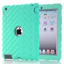 For iPad 234 colorful silicone tire groove design tablet shell drop resistance(China (Mainland))