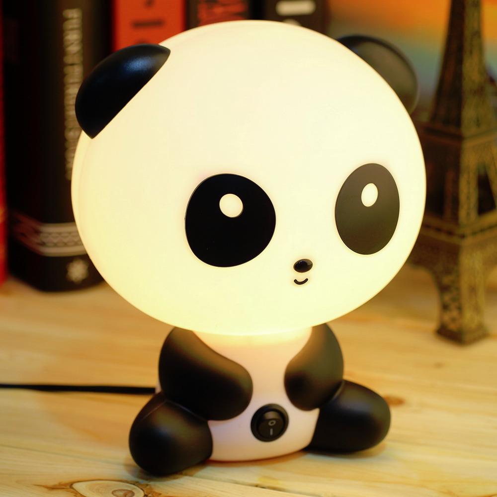 Wholesale cute panda cartoon animal night light kids bed Unique nightlights for kids