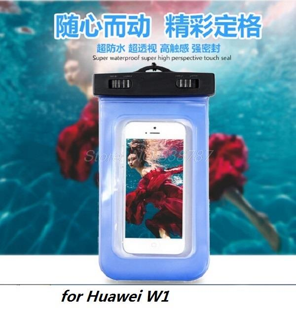 Luxury Fashion workout Waterproof Durable Water proof phone Bag Underwater back cover pouch Case for Huawei W1(China (Mainland))