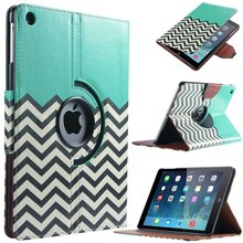 For Case Apple iPad air 1(2013) Smart PU Leather 360 Rotating Waves Flip Stand for iPad Funda w/Screen Protector Film+Stylus Pen(China (Mainland))
