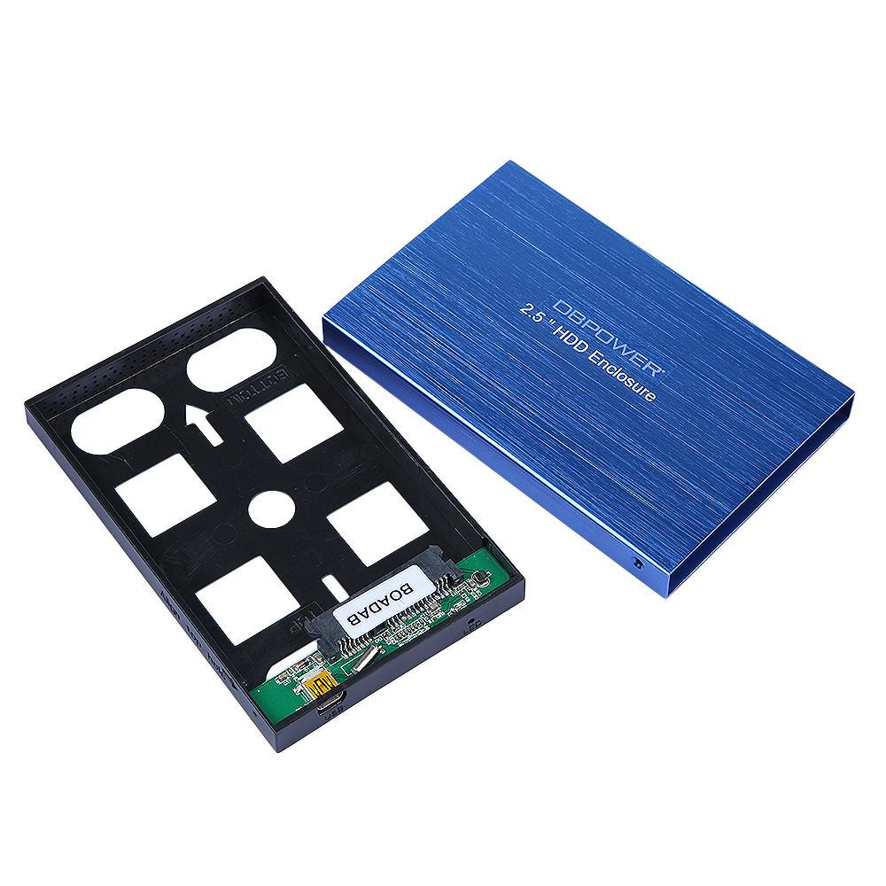 US Stock DBPOWER USB3.0 TO SATA HDD Hard Drive External Enclosure 2.5 Inch SATA HDD Case Box Blue(China (Mainland))