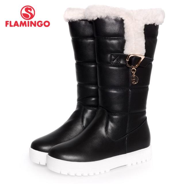 ФЛАМИНГО 2016 новая коллекция зимней моды сапоги с шерстяной высокое качество anti-slip детская обувь для девочек W6YK051