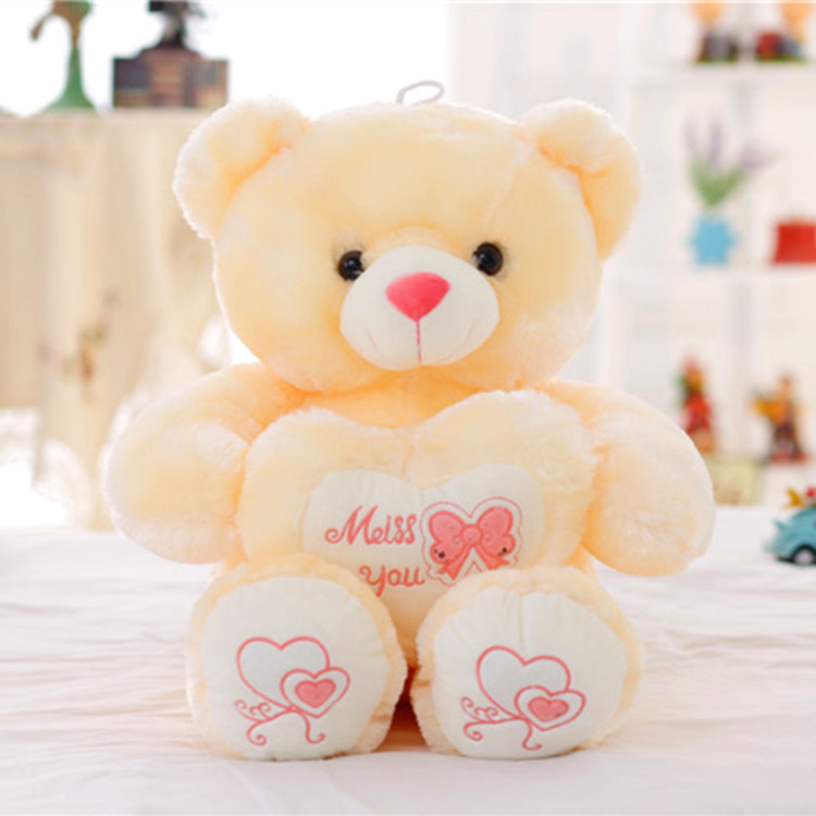 Bow holding heart Baby Bear plush toy, plush fabric soft, smooth and delicate, high-quality PP cotton fine workmanship, quality(China (Mainland))