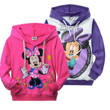 2016 minnie mouse clothing for girl kids spring autumn long sleeve casual t-shirt hoodies sweatshirt(China (Mainland))
