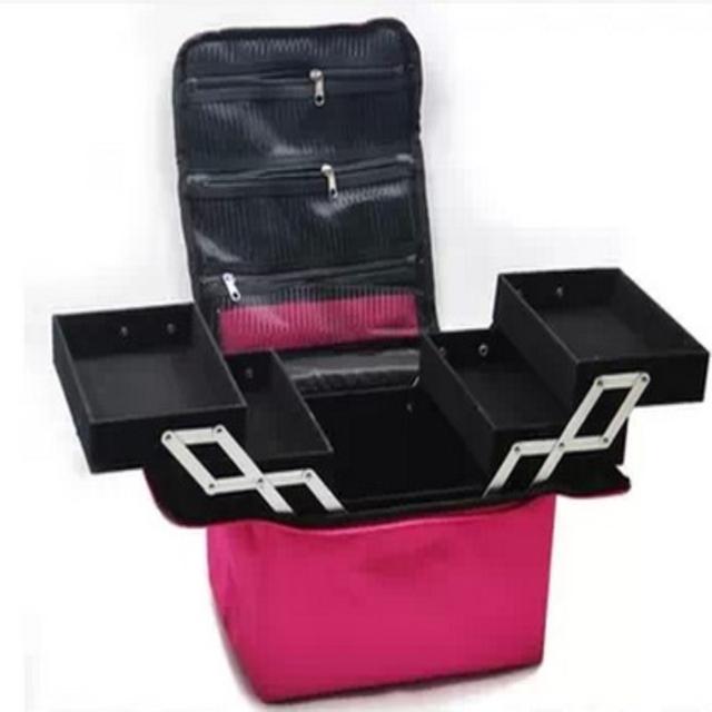 Косметичка профессиональный макияж / косметичка большая емкость двойной / box кросс-одевания косметика макияж box