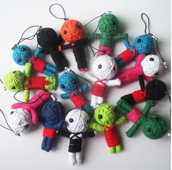 Free Shipping, mobile phone chain wholesale, Easter gifts, cute voodoo doll
