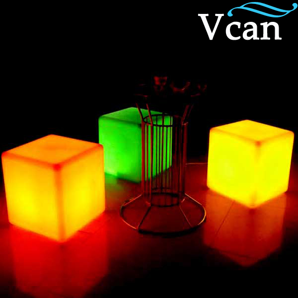 Colorful RGB Light LED Cube Chair VC-A400 to outdoor or indoor as garden seat(China (Mainland))