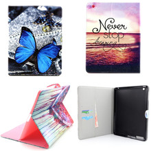 YH Luxury New OWI Tower PU Leather Case With Card Slots For Apple iPad 2 3 4 Case Folio Stand Protector Skin For iPad4(China (Mainland))