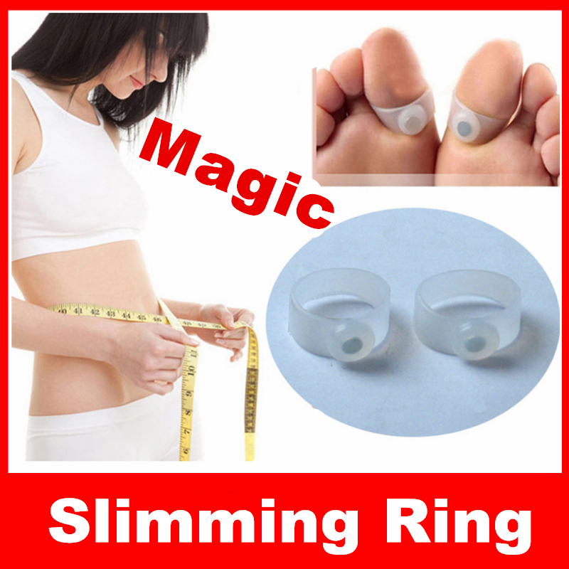 2pcs Silicone Magnetic Foot Massage Toe Ring slimming diet products lose weight and burn fat emagrecer perder peso adelgazante(China (Mainland))