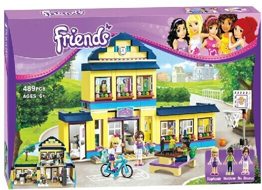 Original BELA Girls Friends HeartLake cute City School Building Block Sets 48Assemble Bricks toys Compatible lepin - EWAY Technology store