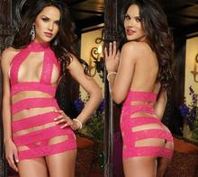 NEW 2015 Sexy Women's Lingerie Babydoll Sleepwear Stitching Lace Nightwear++G-string