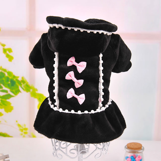 Cute Princess Dog Dresses Winter Puppy Cats Skirt Girl Dog Clothes Hoodie Coat Chihuahua Yorkshire Terriers XXS XS S M L Size(China (Mainland))