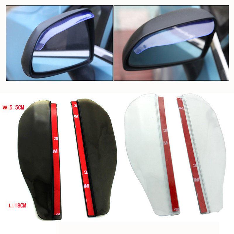 Universal Flexible PVC Car Accessories Rearview Mirror Rain Shade Rainproof Blades Car Back Mirror Eyebrow Rain Cover 2Pcs/pair(China (Mainland))