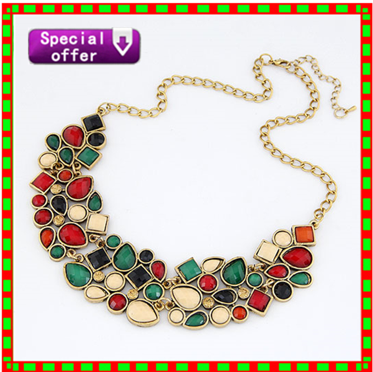 Collier Femme Fashion Vintage Necklace For Women 2015 Maxi Colar Boho Collar Mujer Statement Necklaces & Pendants Fine Jewelry(China (Mainland))