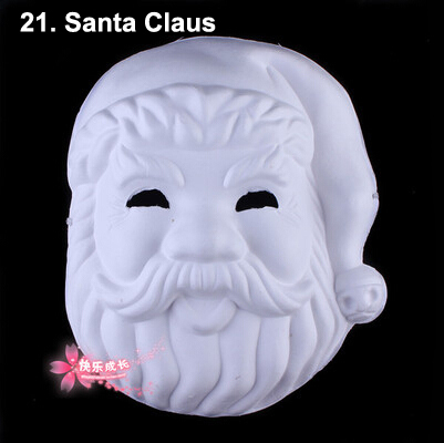 Halloween DIY Paper Pulp Plain Mask Painting Painted DIY Toy Pure White Mask Women Men Female