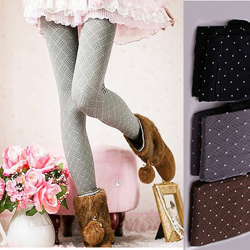 2016 fashion stretch point stripe pantyhose 4 colors printed women collants sexy skinny tights high elasticity - Collants Colors