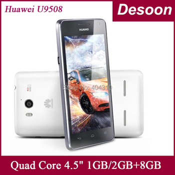 original HUAWEI Honor 2 U9508 2G RAM 3G android Mobile phone 4.5 inch IPS screen 1280*720 Quad core 1.4GHZ black white