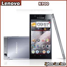 Ultra Slim 3G Lenovo K900 OTG 13.0MP RAM 2GB+ROM 16GB 5.5 inch Android 4.2 Intel Atom Z2580 Dual Core 2.0GHz WCDMA GSM Phones