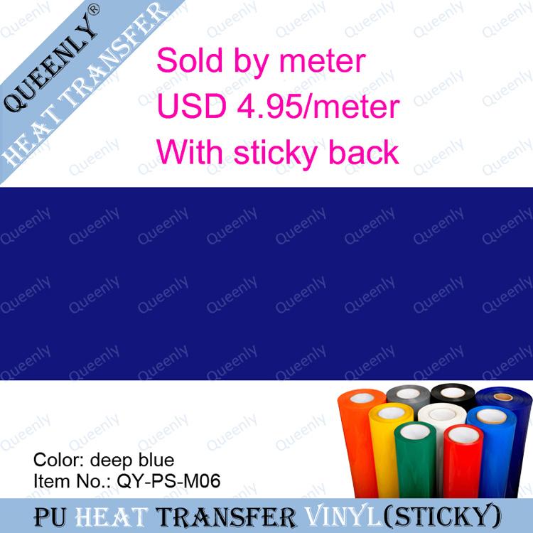 PU heat transfer Vinyl Textil Heat Transfer sold by meter 5 meters/pack width 60cm(China (Mainland))