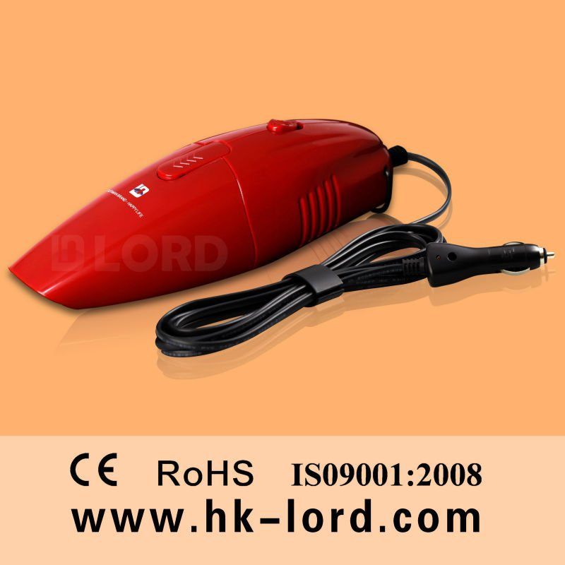 Handheld Powerful Dry Hoover Vacuum Cleaner for car 12v 75w Red(China (Mainland))