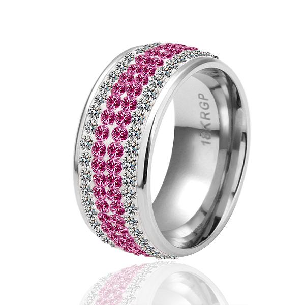 18KGP R041 R042 18K Platinum Plated Ring Jewelry Nickel Free Golden Plating Platinum Rhinestone Austrian Crystal Element(China (Mainland))