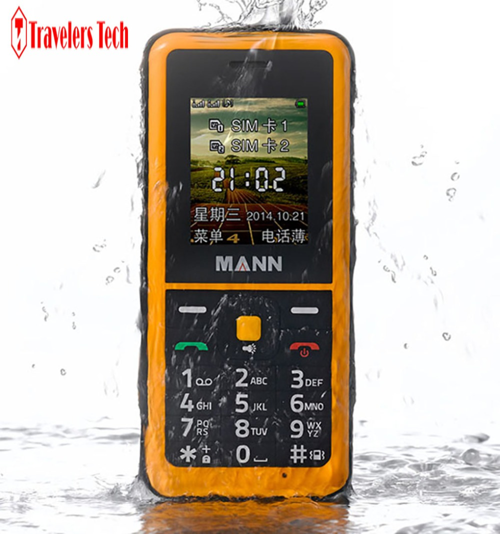 Unlocked MANN ZUG Q2 IP67 Waterproof 1000mAh Dual Cards 0.3MP Bluetooth senior old man mobile phone(China (Mainland))