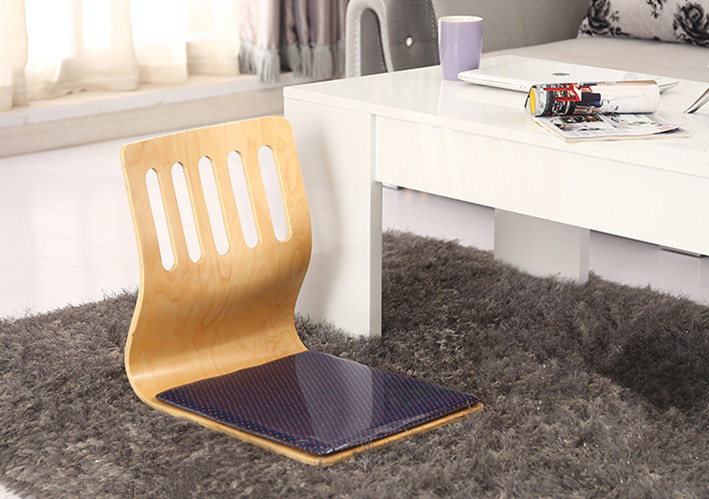 Japanese legless chair made from plywood seating living for Asian floor chair