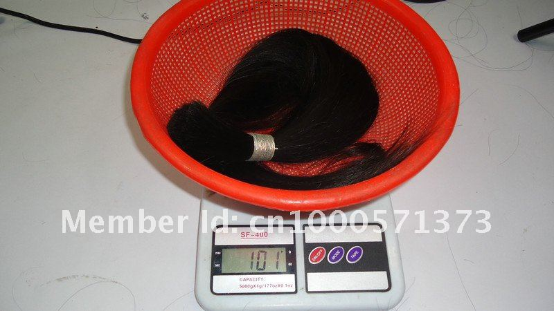 Retail 20 22 inch Best Unprocessed Raw 100% Real Virgin Remy Hair bulk email service Srraight 100g/pcs natural brown(China (Mainland))
