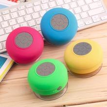 In stock! Fashion Suction Speaker Shower Car Waterproof Wireless Bluetooth Handsfree Mic Newest(China (Mainland))