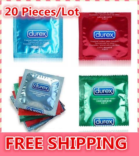 20 Pcs / Lot Durex Condoms Sex Products Sex Durex Condoms Condones Contex Camisinha Adult Product Red Blue Green Free Shipping(China (Mainland))