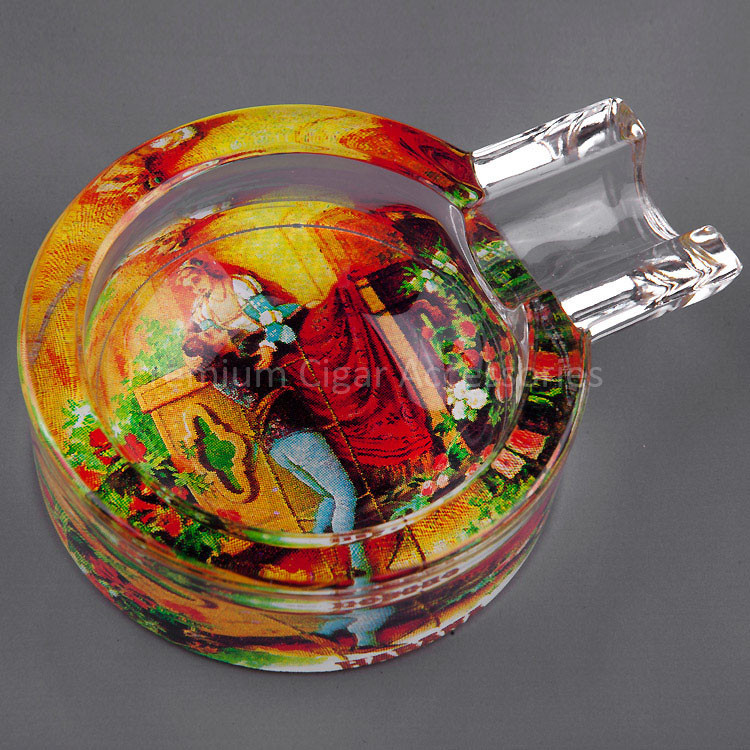 Romeo y Julieta Gadgets Premium Transparent Crystal Classic MINI Fine Cuban Glass White Travel Cigar Ashtray(China (Mainland))