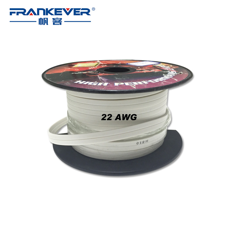 Flat cable 22AWG Speaker Audio Cable without Terminal Speaker cable Sold by Meter High Quality(China (Mainland))