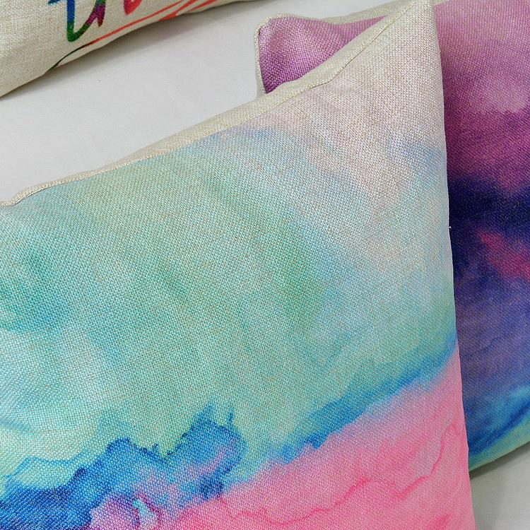 Nordic Watercolor pillow Creative Modern Watercolor pillow Cushion Linen pillowcase home decorative sofa pillows