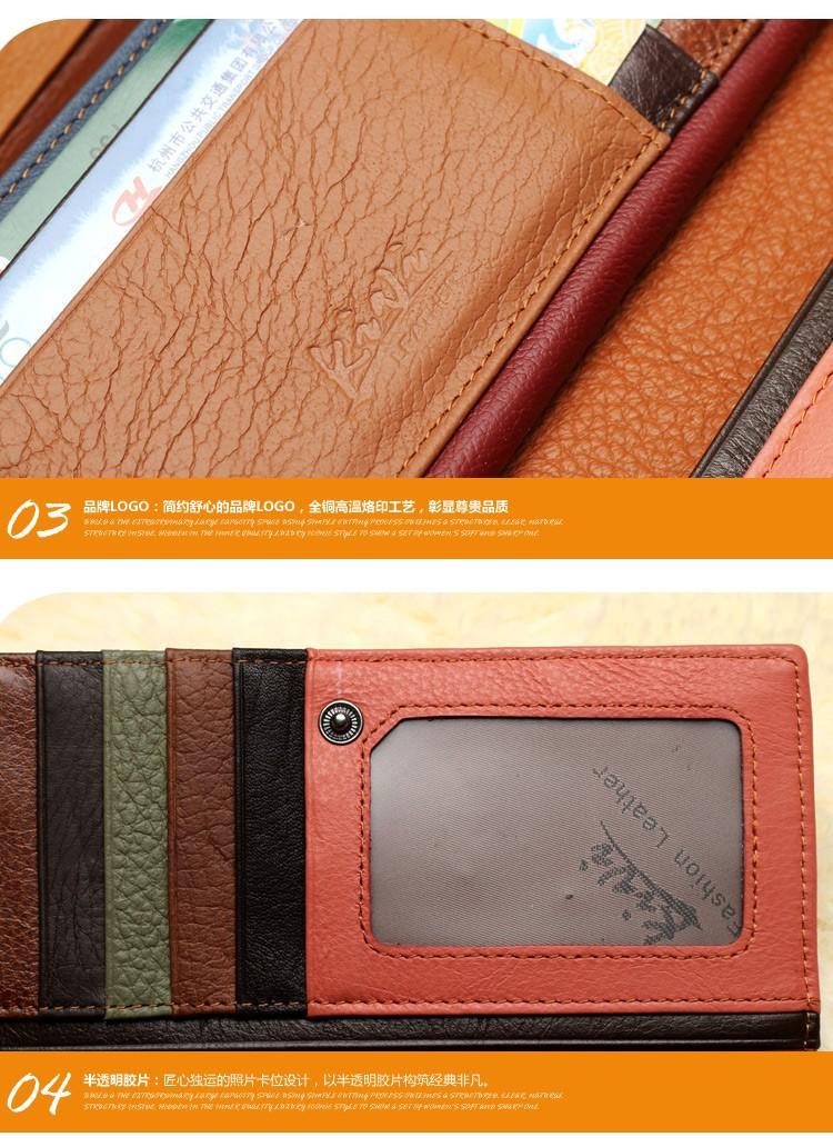 натуральной кожи бумажник моды женщин соответствия цвета кошелек кожа кошелек леди сцепления Сплит совместных Кескин Бумажники кожаные
