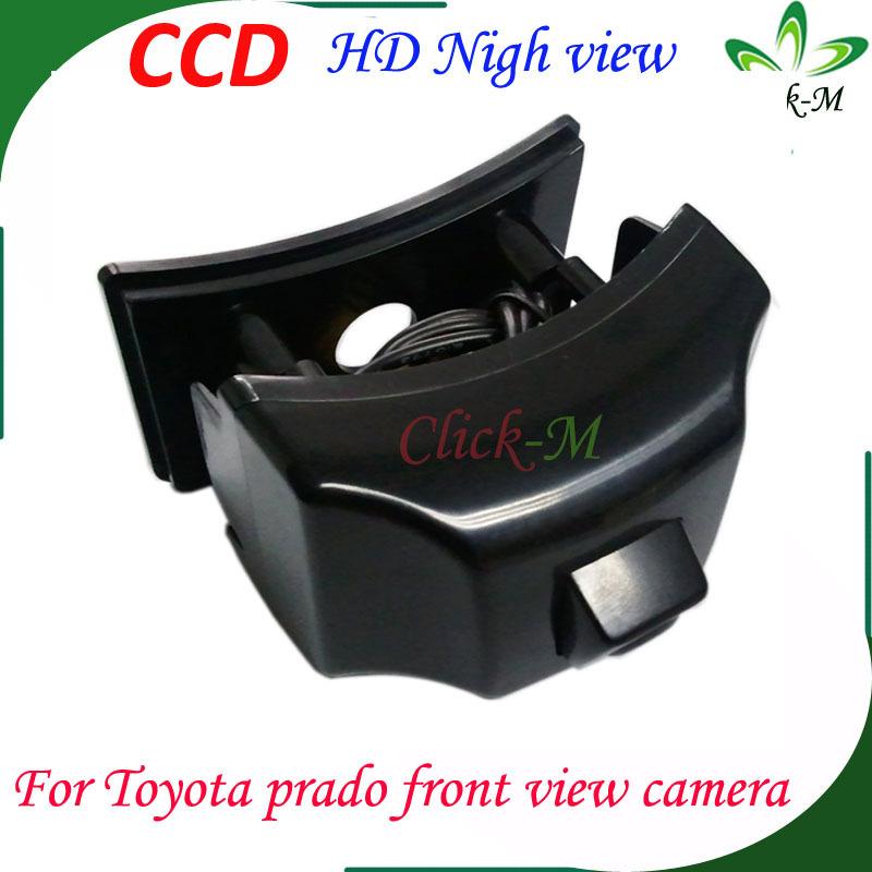 for Toyota land cruiser prado 150 car front view camera CCD HD Waterproof night vision for prado 150 Car parking camera(China (Mainland))