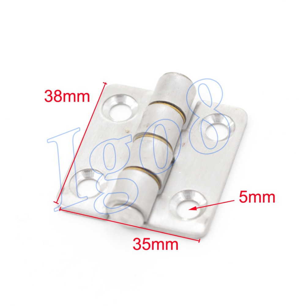 "Cabinet Door Hinges Stainless Steel Butt Hinge 1.5"" 3PCS(China (Mainland))"