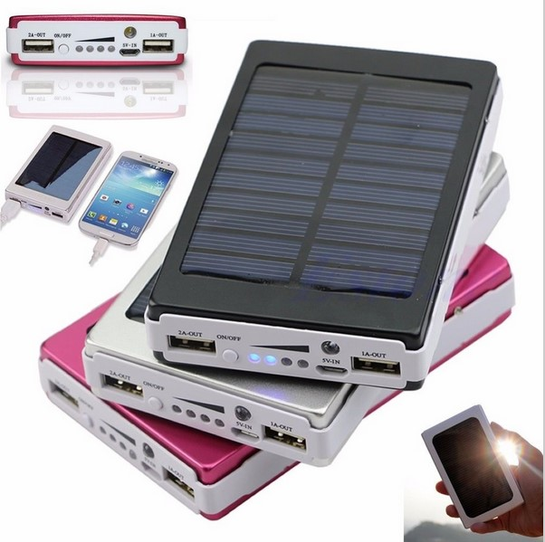 12000mAh Portable Dual USB Port Solar Power Bank External Backup power sun Charger Battery Power Supply For iPhone 6 6s 6plus S6(China (Mainland))