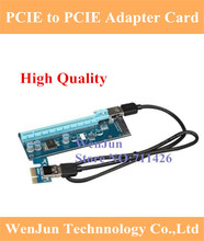 Buy PCIe 1x 16x PCI Express Extender Riser Card USB PCI-e Extension Adapter SATA power Supply bitcoin mining BTC 10pcs for $90.80 in AliExpress store