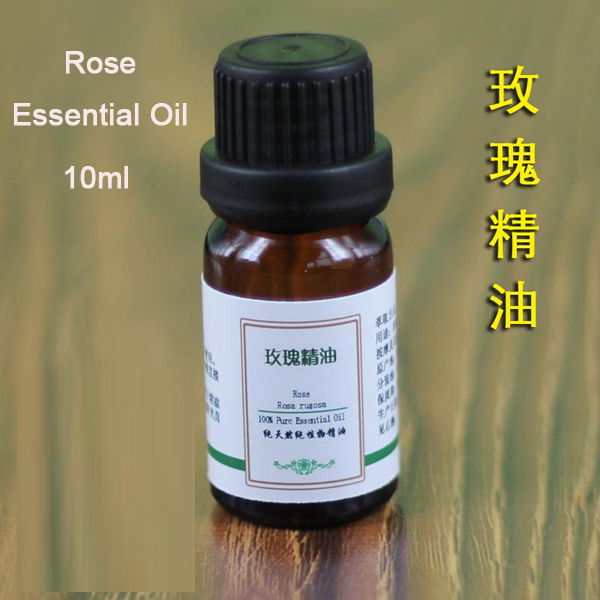 Natural Pure 100% Rose Essential Oil 10ml ,Aromatherapy,Fragrance, Skin Care(China (Mainland))