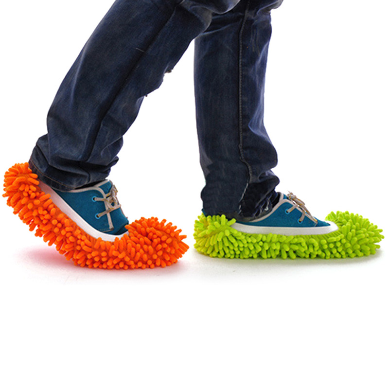 New Multifunction Mop Slipper Floor Polish Cover Cleaner Dusting Cleaning Foot Shoes Useful(China (Mainland))