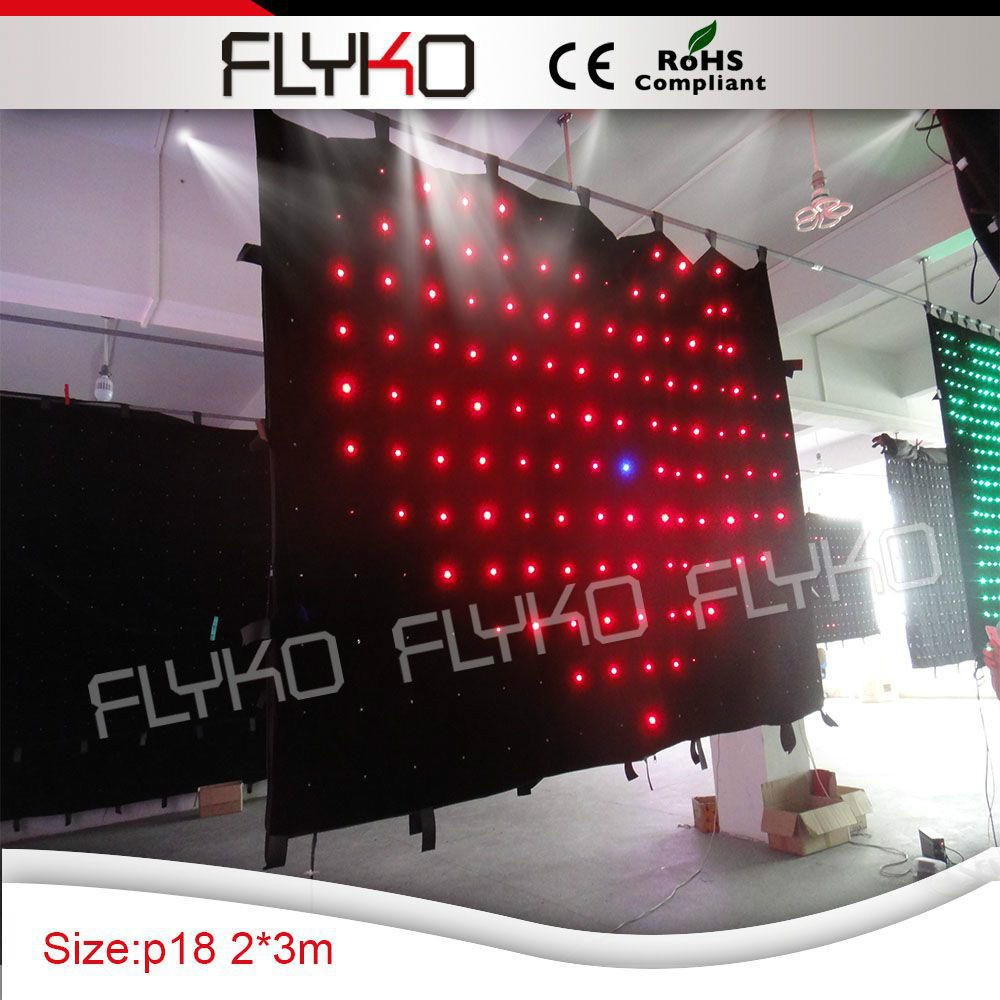 Free shopping 2x3m flexible and clear image led video curtain(China (Mainland))