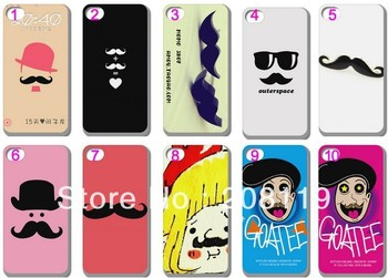 10PCS/LOT Fashion PERSONALITY BEARD Hard Back Case Cover Skin for iPHONE 5 5G 5S 5TH Mobile Cell Phone Free Shipping